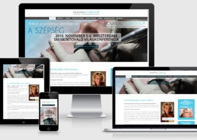 Nouveau contour weboldal készítése