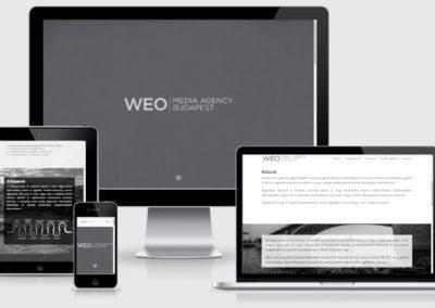 WEO media weboldal készítése
