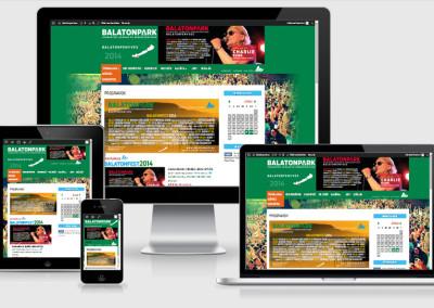 Balaton Park mobilra optimalizált weboldal készítés