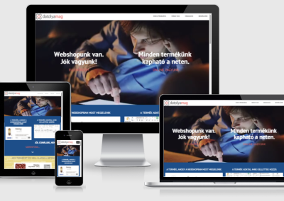 Datolyamag mobilra optimalizált weboldal készítés