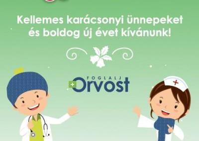foglaljorvost.hu Karácsonyi üdvözlet tervezés