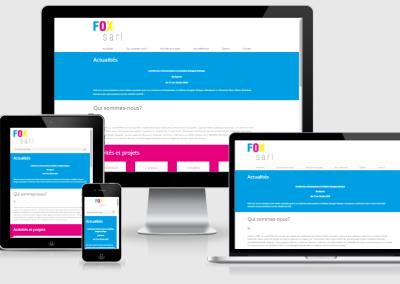 Fox Sarl mobil telefonokra optimalizált weboldal készités