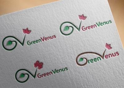 GreenVenus logó tervezés