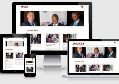 Innovation for Africa weboldal készítés