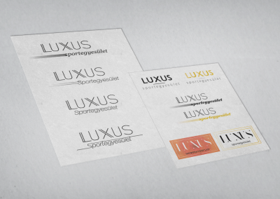 Luxus egyesület logó tervezés