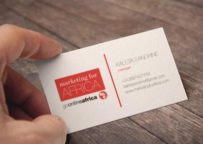 Marketing for Africa névjegykártya tervezés