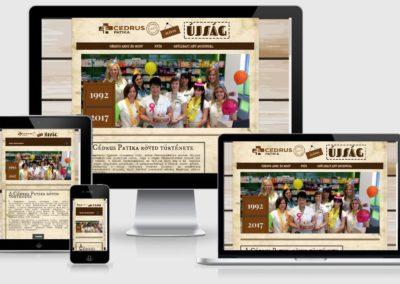 Cédrus Patika weboldal készítés