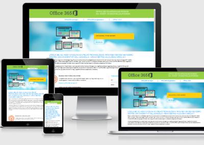 o365 mobilra optimalizált weboldal készités