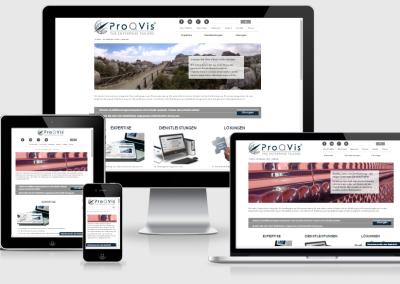 ProQVis mobilra optimalizált weboldal készités