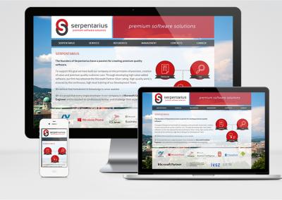 Serpentarius Kft. mobilra optimalizált weboldal készítés