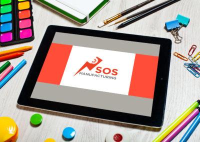 SOS Manufacturing logó tervezés