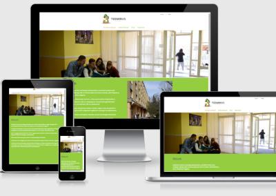 Terminus Hostel mobilra optimalizált weboldal készités