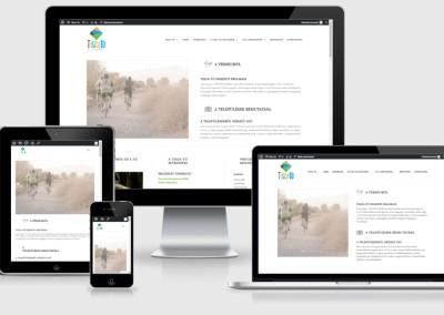 Tisza-Tó mobil telefonokra optimalizált weboldal készités