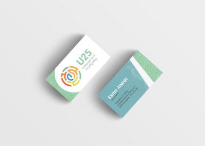 U25 névjegykártya tervezés