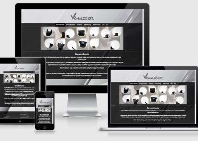 Vonalzó Kft. mobilra optimalizált weboldal készítés
