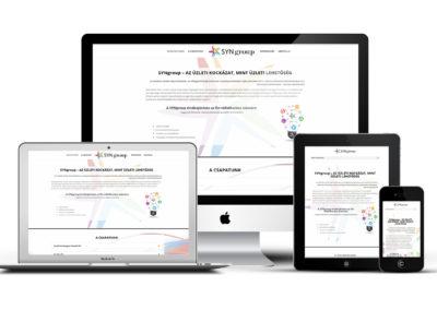 Syngroup mobilra optimalizált weboldal készítés